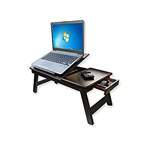 Mahogany Wood Laptop Bed Table Wooden For Breakfast Kids Studying Working