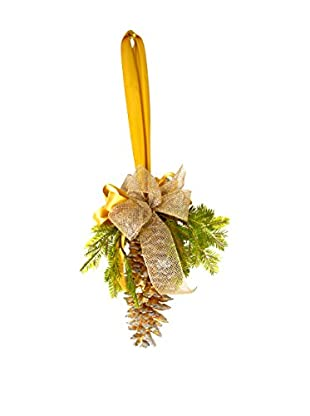 Creative Displays Golden Loblolly Pine Cone Swag, Gold/Green/Silver