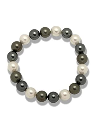 Perldor 60650067 - Pulsera de mujer con perla natural Gris/Natural 20 cm