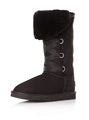 Australia Luxe Collective Women's Bedouin Tall Lace Up Boot (Black)