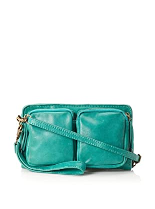 Chocolat Blu Women's Multi-Pocket Cross-Body (Bright Emerald)