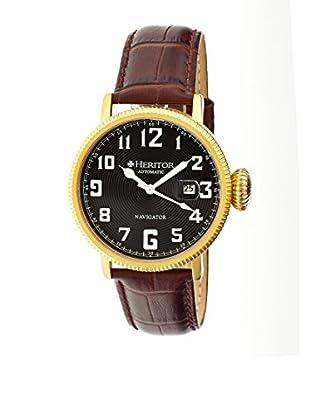 Heritor Automatic Uhr Olds Herhr3207 dunkelbraun 50  mm