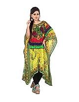 7 Colors Lifestyle Womens Georgette Kaftan (Aaj7001Kfv1M _Multi-Coloured _Medium)