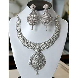 Necklace sets - Platinum Diamond Set