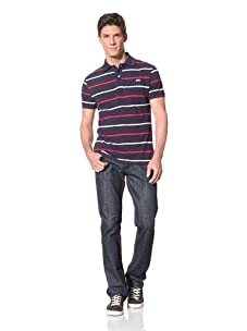 Moods of Norway Men's Per Are Polo with Contrast Stitching (Navy)