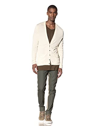 B: Scott Men's Button-Up V-Neck Cardigan (Bone)