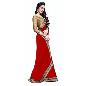 Areez House Jai Ho Bollywood Designer Saree - Red
