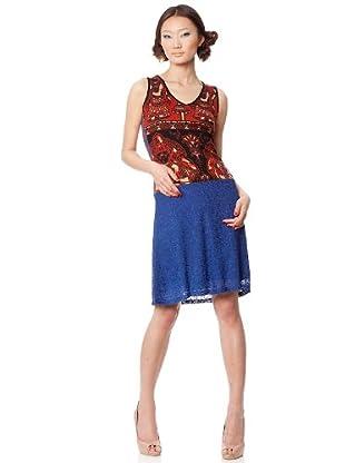 Custo Barcelona Kleid Mase (Blau/Rot)