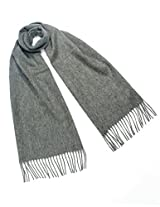 Dahlia 100% Luxurious Wool Scarf - Classic Solid Color - Gray