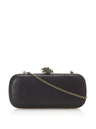 House of Harlow 1960 Women's Addison Minaudiere (Black Distressed Leather)
