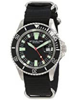 "Stuhrling Original Men's 907.331OB1 ""Aquadiver Regatta Bravura"" Stainless Steel and Black Canvas Watch"