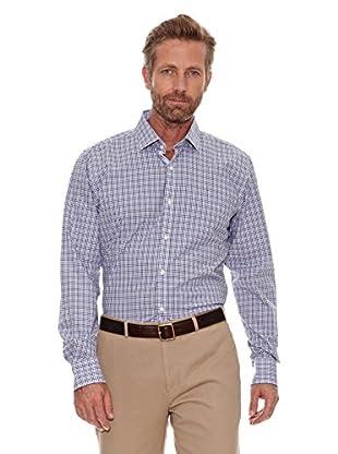 Cortefiel Camisa Cuadros (Azul Marino)