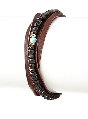 Shashi Black Spinal Rachel Wrap Bracelet