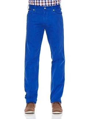 Pedro del Hierro Pantalón Bolsillos Color Ppt (Azul)