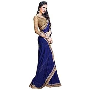 Saree Jai Ho Collection Royal Blue Saree By Bhuwal Fashion