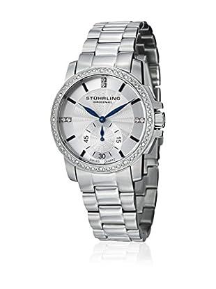 Stührling Uhr mit Schweizer Quarzuhrwerk Lady Regency silberfarben 36 mm