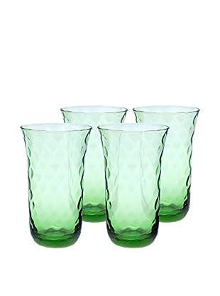 Padma Collection Set of 4 Optic 20-Oz. Highball Glasses, Coriander