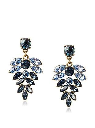 W/A Studios Crystal Fern Leaf Earrings