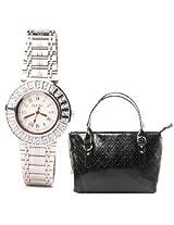 Fidato Women's Watch & Handbag Combo