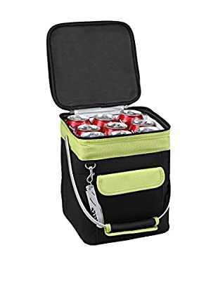 Picnic at Ascot Multi-Purpose Collapsible Cooler, Black with Apple
