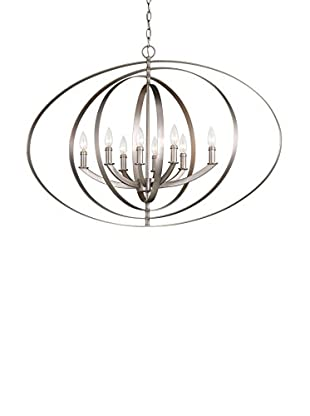 Progress Lighting 8-Light Oval Pendant, Grey