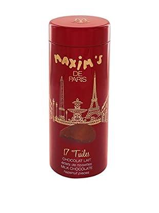 Maxim's de Paris Tin of 17 Milk Chocolate Hazelnut Tuiles