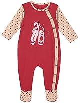 Infant girls sleepsuit, Hot pink (9-12 Months)