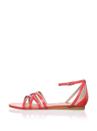 Pour La Victoire Women's Faine Sandal (Coral Patent)