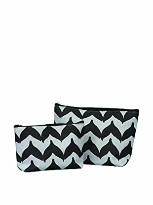 RockFlowerPaper Torana Chevron Black Zip Bags (Set of 2)