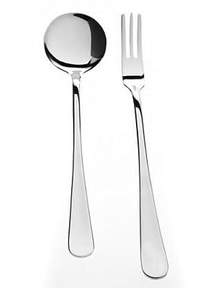 Franz Fürst Spaghetti Löffel & Gabel poliert 12-teilig