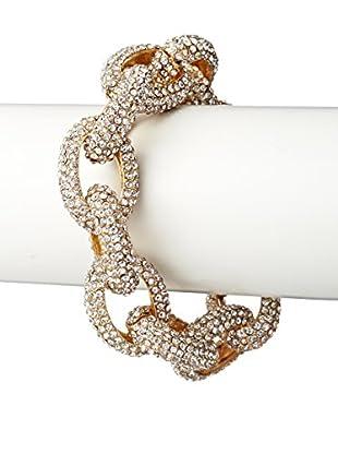 Saachi Austrian Crystal Pave Link Bracelet