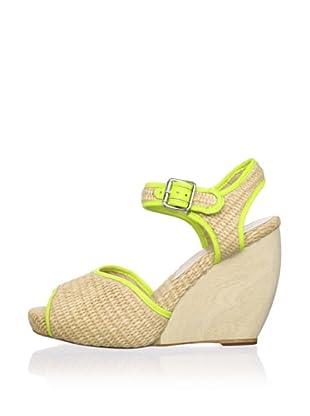 Loeffler Randall Women's Valentine Wedge Sandal (Natural/Acid)