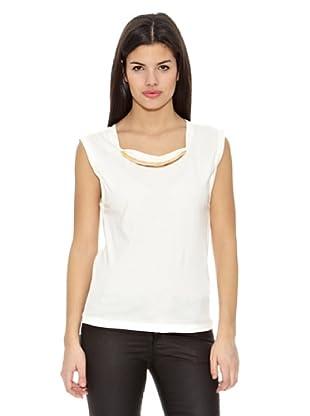 Springfield Camiseta T Collar (Blanco)