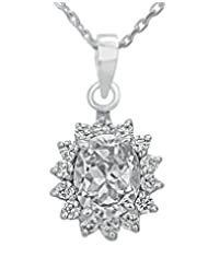 Clara Sterling Silver Swarovski Studded The Angela Pendant For Women