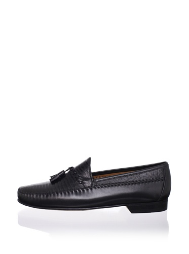 Mezlan Men's Tassel Loafer (Black)