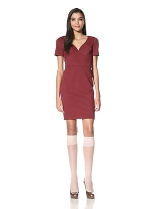 Z Spoke Zac Posen Women's Short Sleeve Dress (Plum)