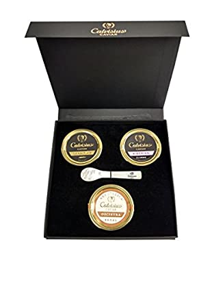 Calvisius Caviar Set of 3 50-Gram Tins in Gift Box