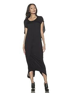 Preen Line Women's Bell Draped Back Dress (Black)
