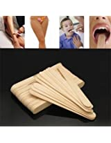 50pcs Disposable Tongue Depressor Waxing Stick Spatula Safety Hair Removal