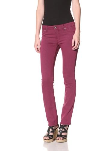 DL 1961 Premium Denim Women's Samantha Slim Straight Leg Jeans (Sweetpea)