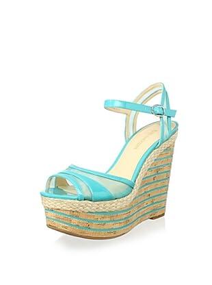 Enzo Angiolini Women's Zosima Platform Wedge Sandal (Dark turquoise)