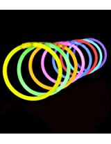 100 Lumistick 8 Glow Stick Glow Bracelets Assorted 8 Color Mix