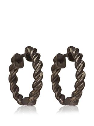 Esprit Pendientes Perfect Twist Black plata de ley 925 milésimas