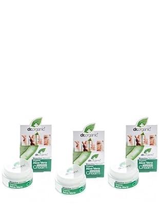 Dr.Organic Set 3 Crema Facial de Día Aloe Vera 50Ml (u)