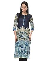MYRA Navy Blue Cotton Kurti For Women MYRA070