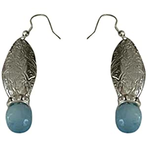 The Desi Soul German Silver with Light Blue Agates
