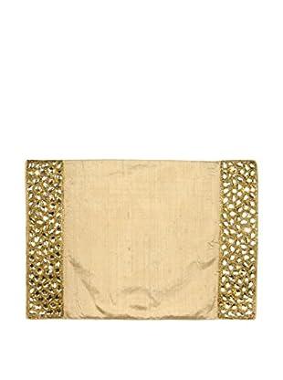 Aviva Stanoff Set of 2 Jewel Placemats, Gold