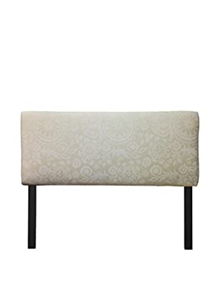 Sole Designs Upholstered Suzani Headboard (White/Beige)
