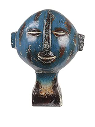 Privilege Short Ceramic Head Sculpture, Blue