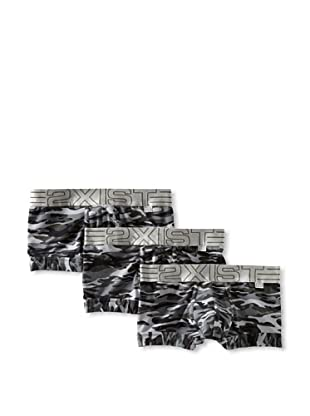 2(x)ist Men's Military No-Show Trunk 3-Pack (Black Camo)